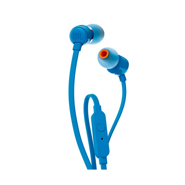 Jbl t110 azul auriculares de botón con micrófono integrado