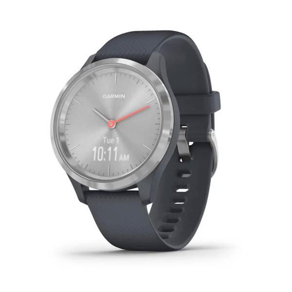 Garmin vivoactive 3s plata correa negra smartwatch gps bluetooth apps deportivas frecuencia cardíaca