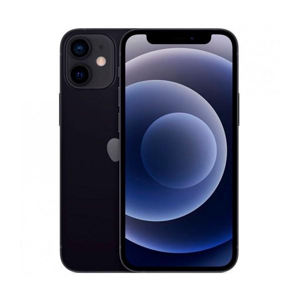 Apple iphone 12 mini negro móvil dual sim 5g 5.4'' oled super retina xdr cpu a14 bionic 64gb 6gb ram dualcam 12mp selfies 12mp